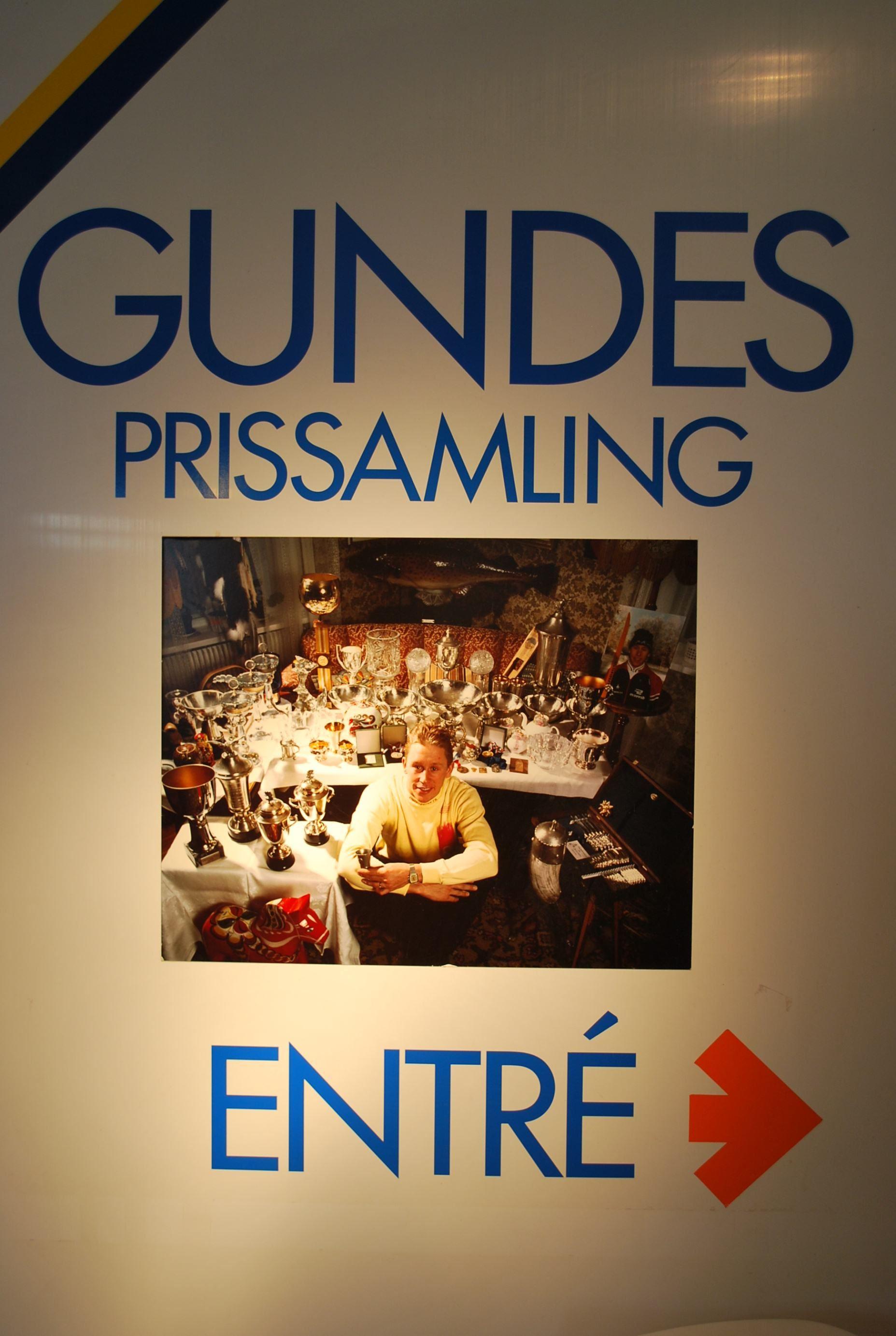 Ingång till Gundes prissamling