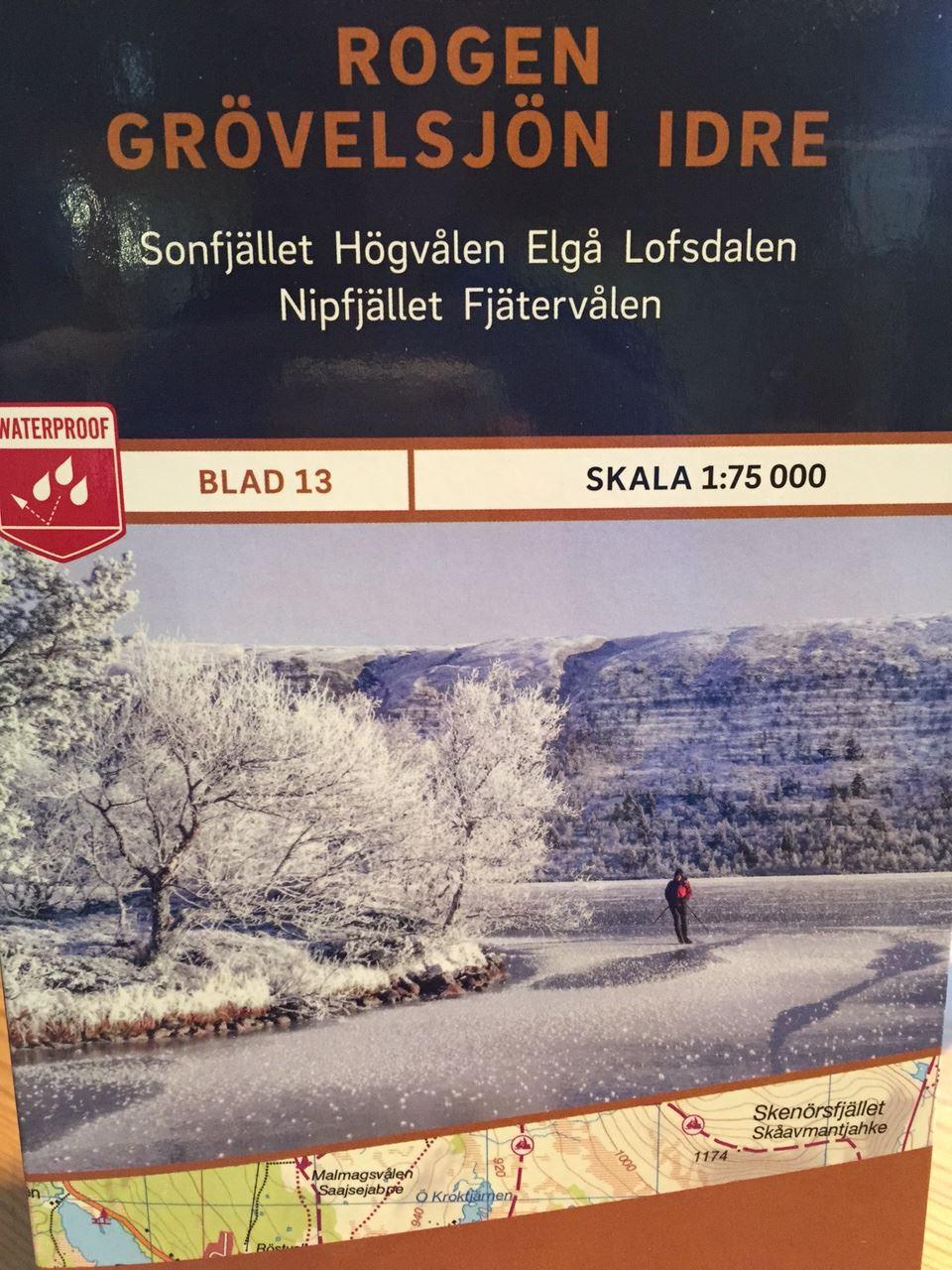 Rogen-Grövelsjön-Idre 1:75 000