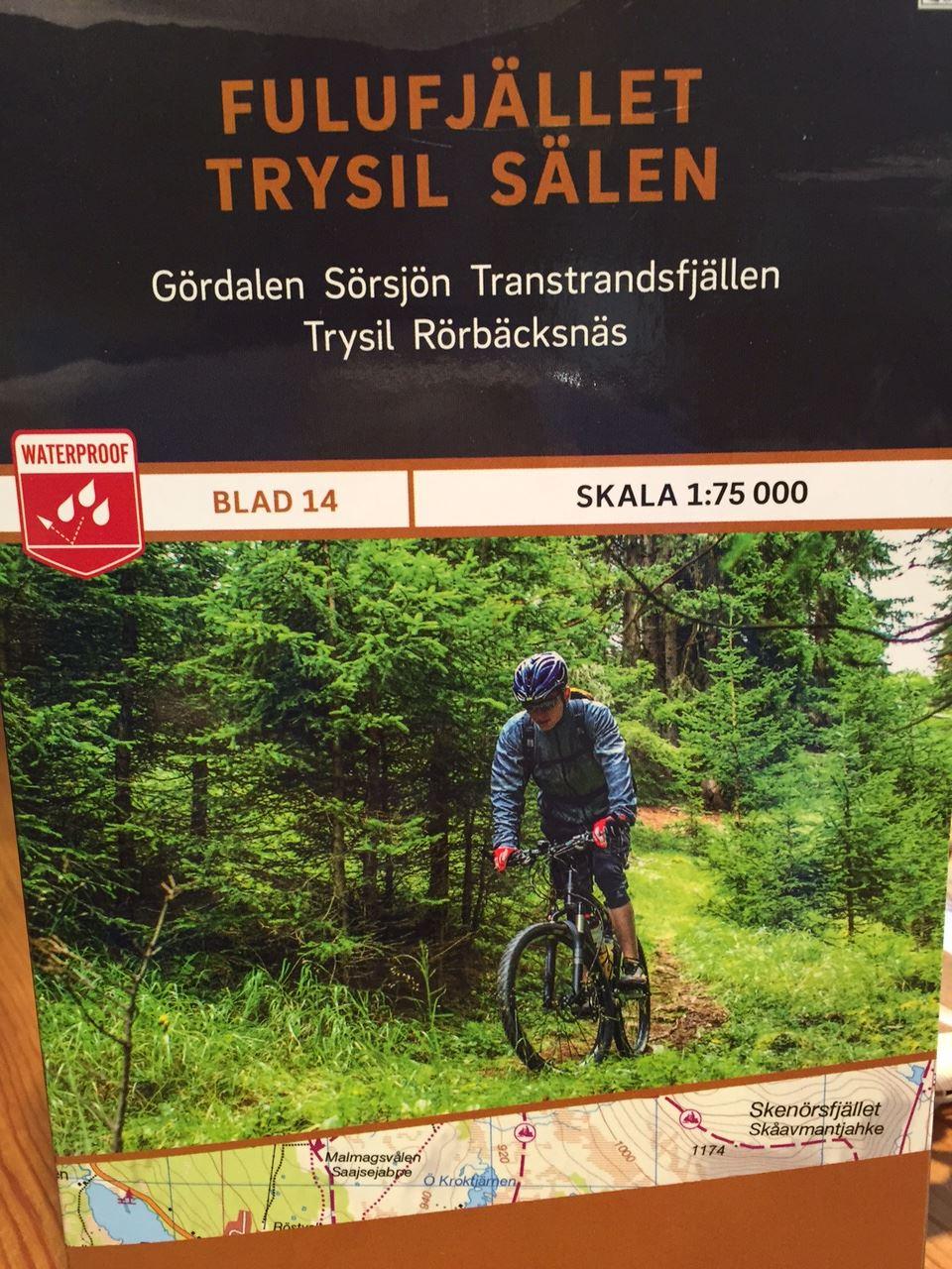 Fulufjället-Trysil-Sälen 1:75 000