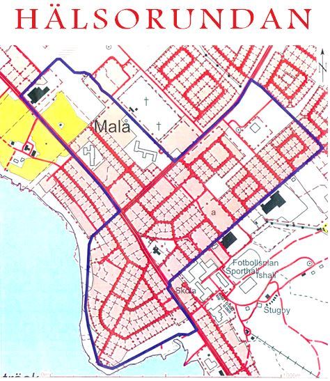 © Malå kommun, Karta över Hälsorundan
