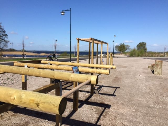 Outdoor gym at Ivöstrand