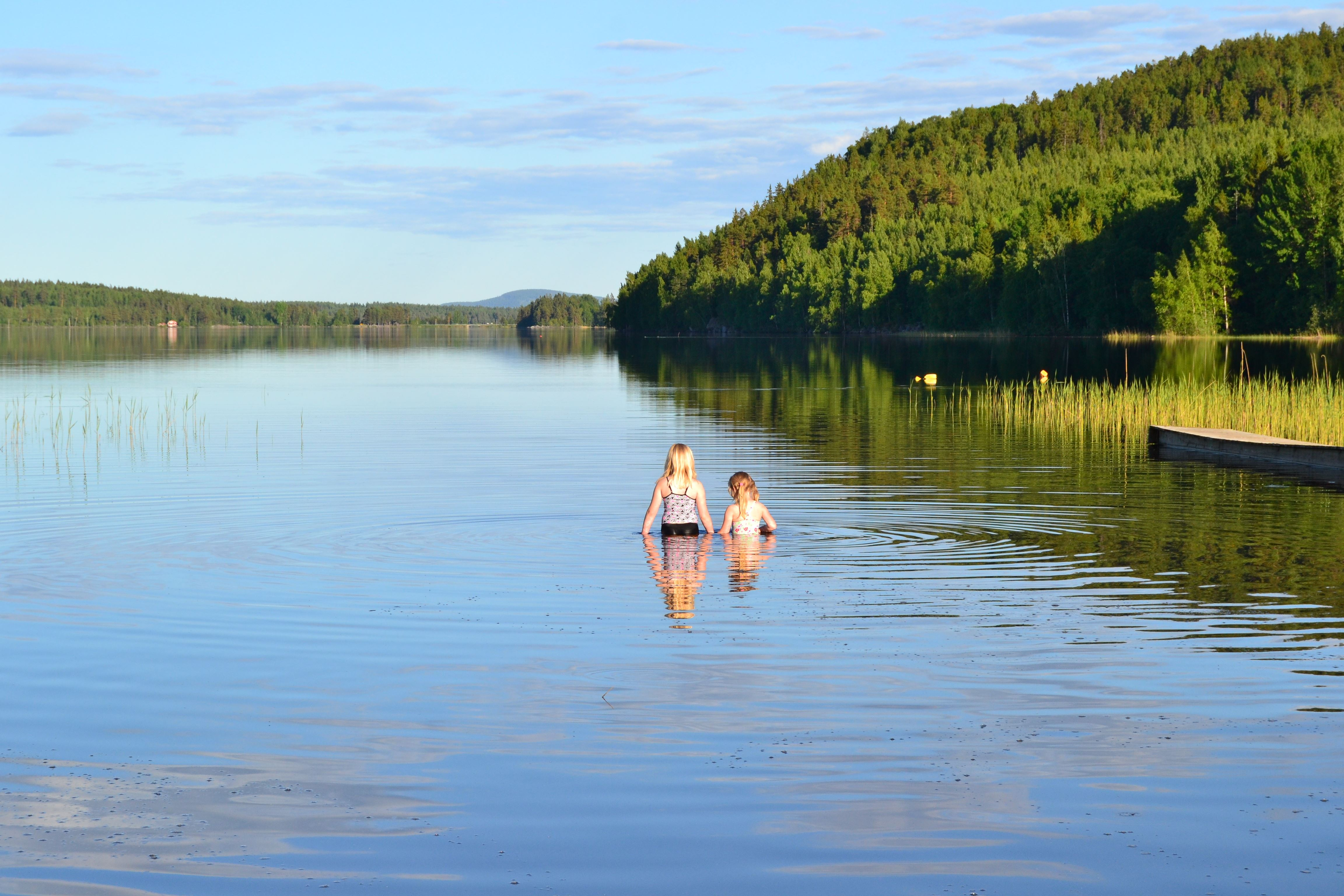 Skajet badplats i Hertsjö
