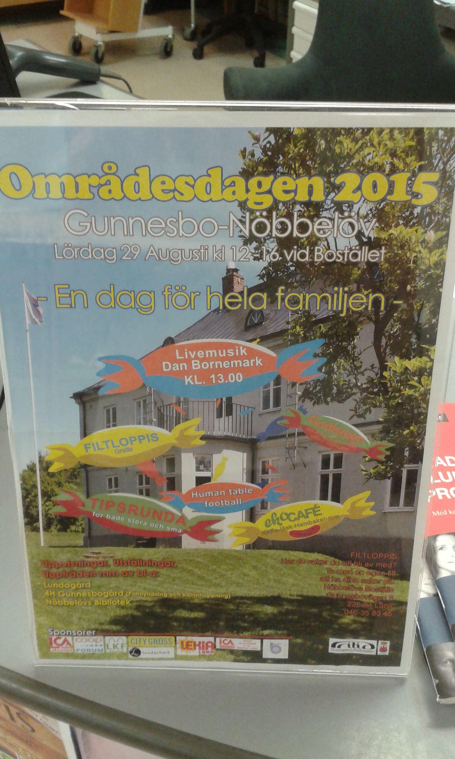 Områdesdag på Nöbbelövs boställe