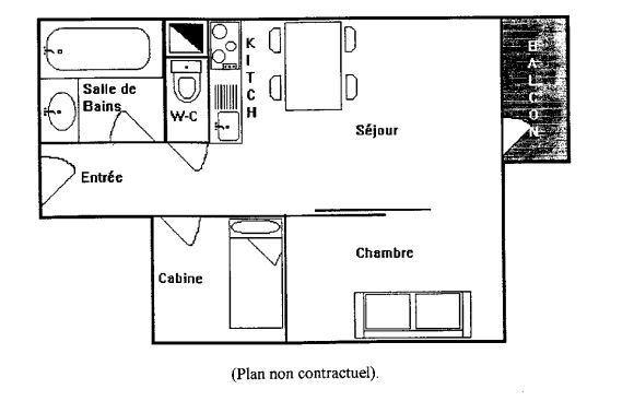 ARCELLE 509 / STUDIO CABINE 4 PERSONNES - 1 FLOCON BRONZE - VTI