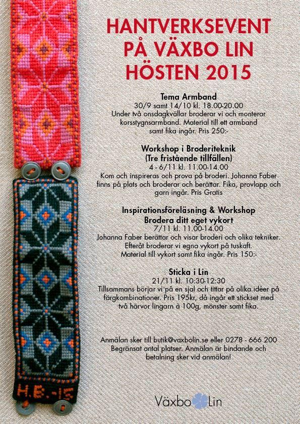 Brodera vykort - Inspirationsföreläsning & workshop