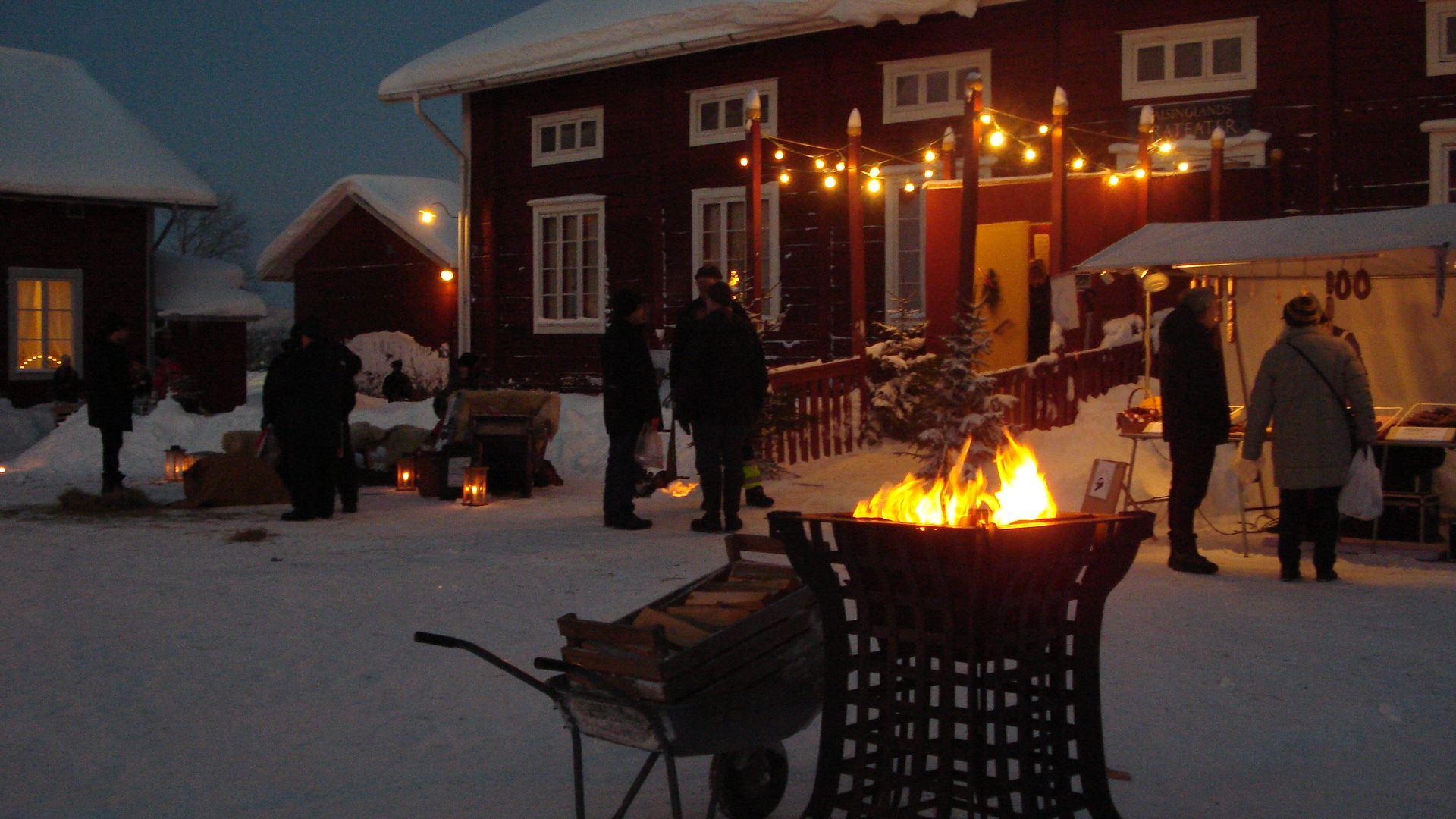 Julmarknad på Stenegård i Järvsö