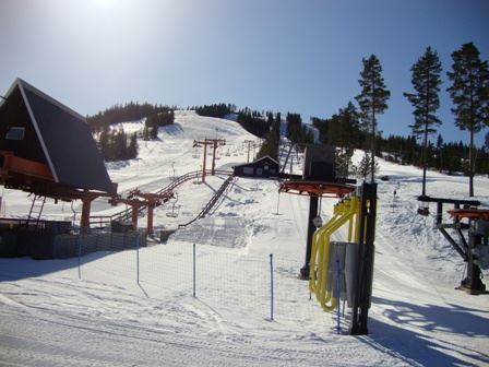 Gesundaberget/mountain with chairlift