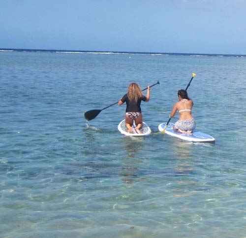 Zarlor (thematische Entdeckung eines Schatzes des Westens der Insel) Entspannung - Kajak in der Lagune
