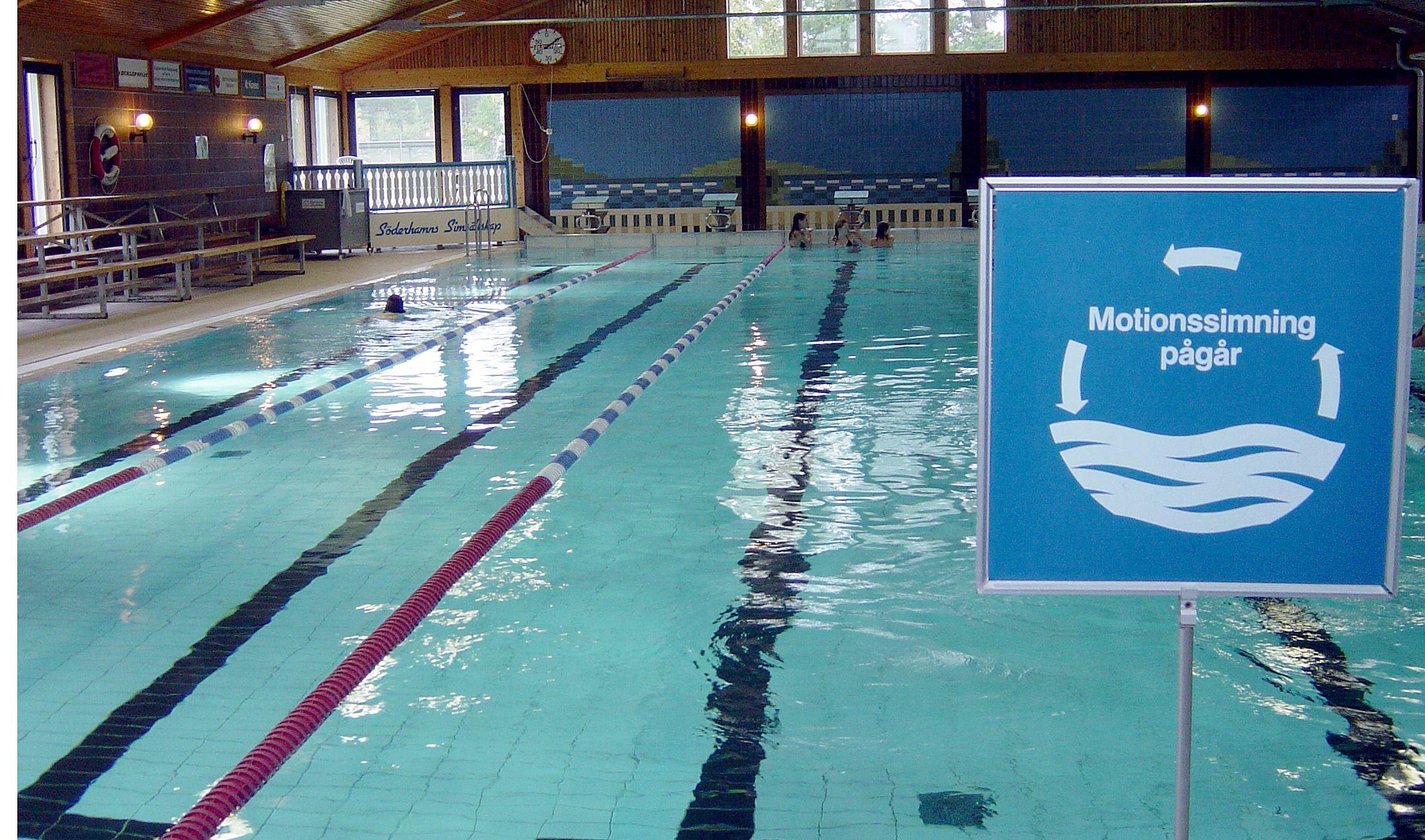 Aquarena, indoor swimming at Hällåsen