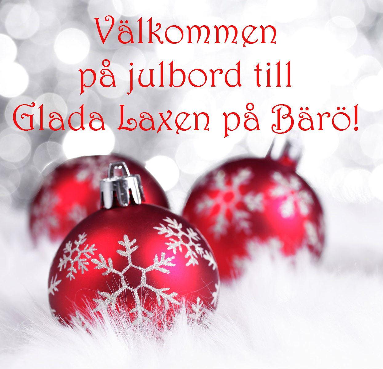 Christmas buffet at Glada Laxen