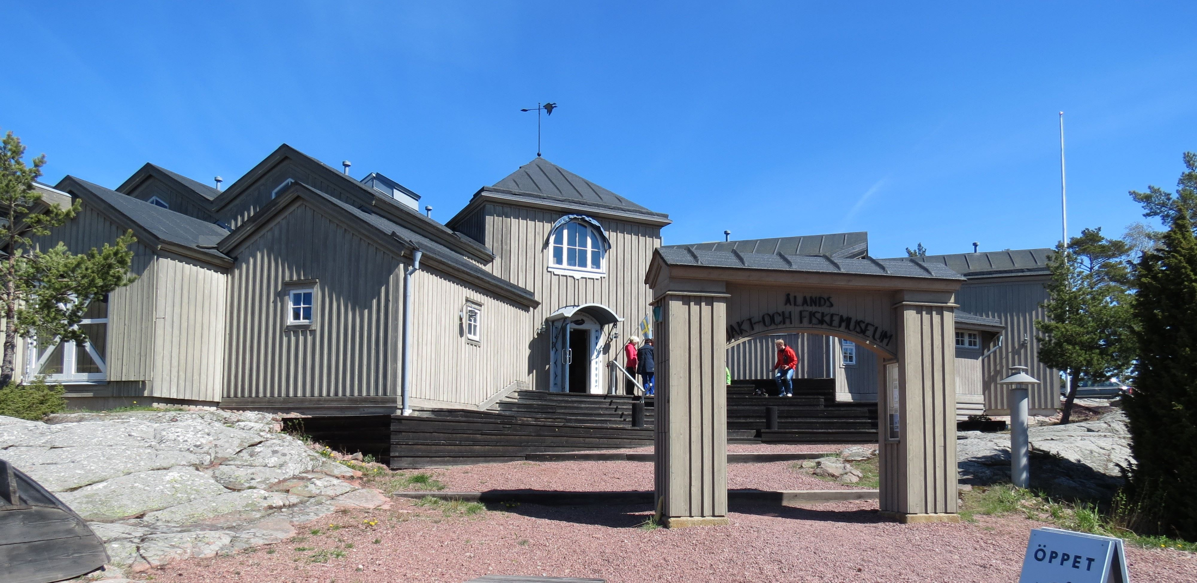 Entrance to Åland Hunting & fishing museum