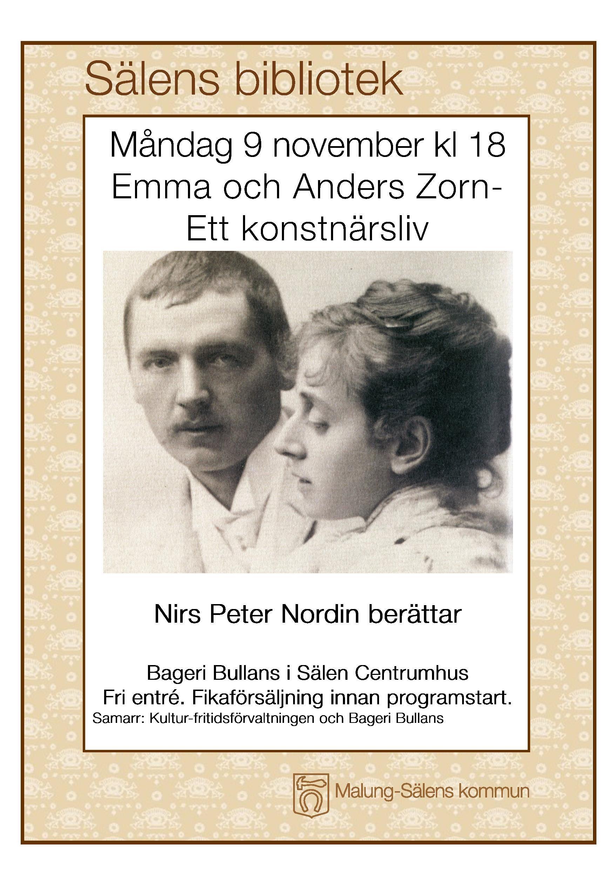 Föreläsning om Emma & Anders Zorn