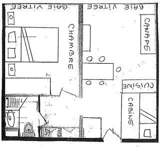 DOME DE POLSET J12 - APPARTEMENT 2 PIECES - 6 PERSONNES - 3 FLOCONS OR - CI