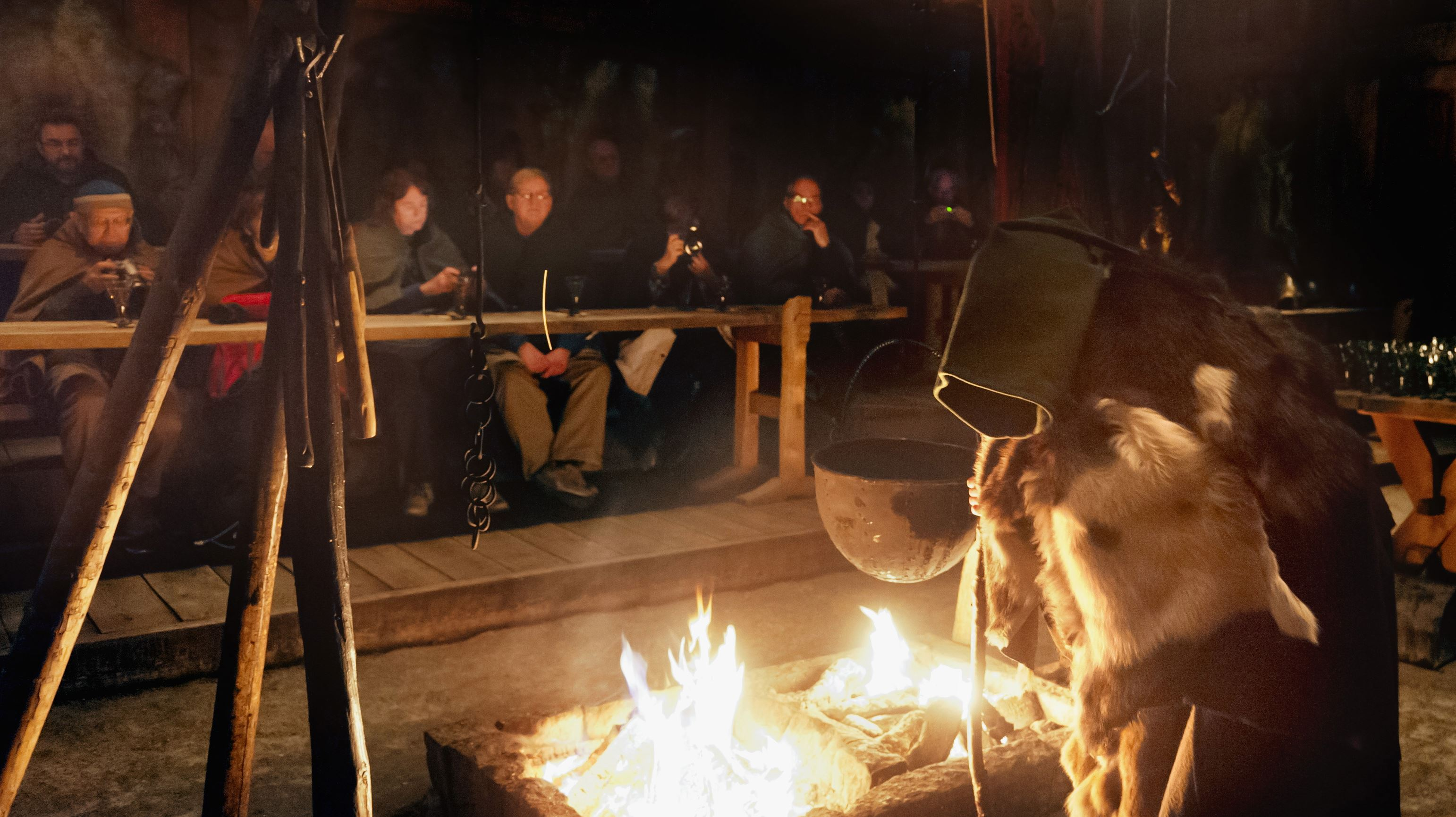 © Lofotr Vikingmuseum, Viking feast & Nothern light