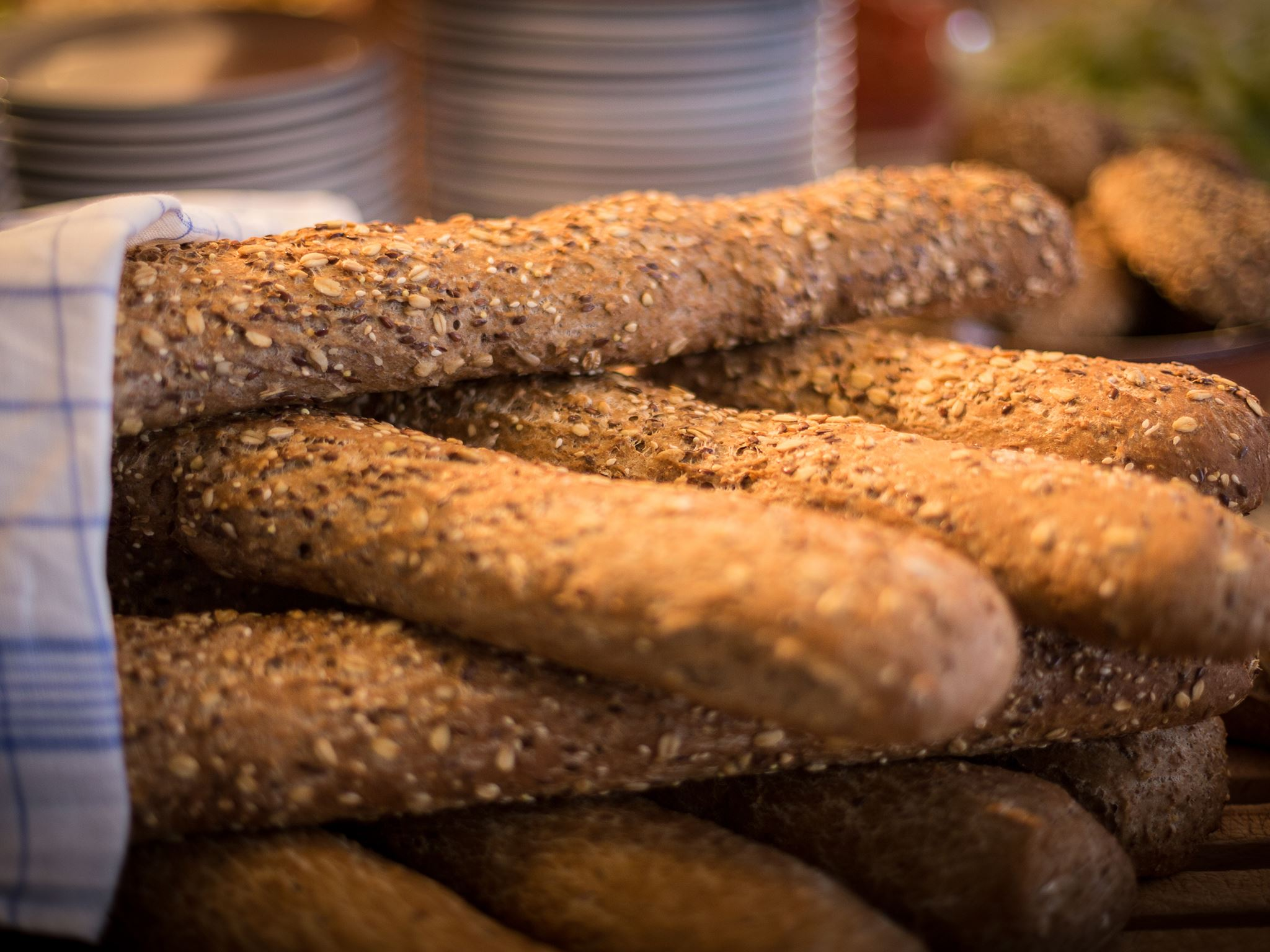 Ferskt hjemmebakt brød