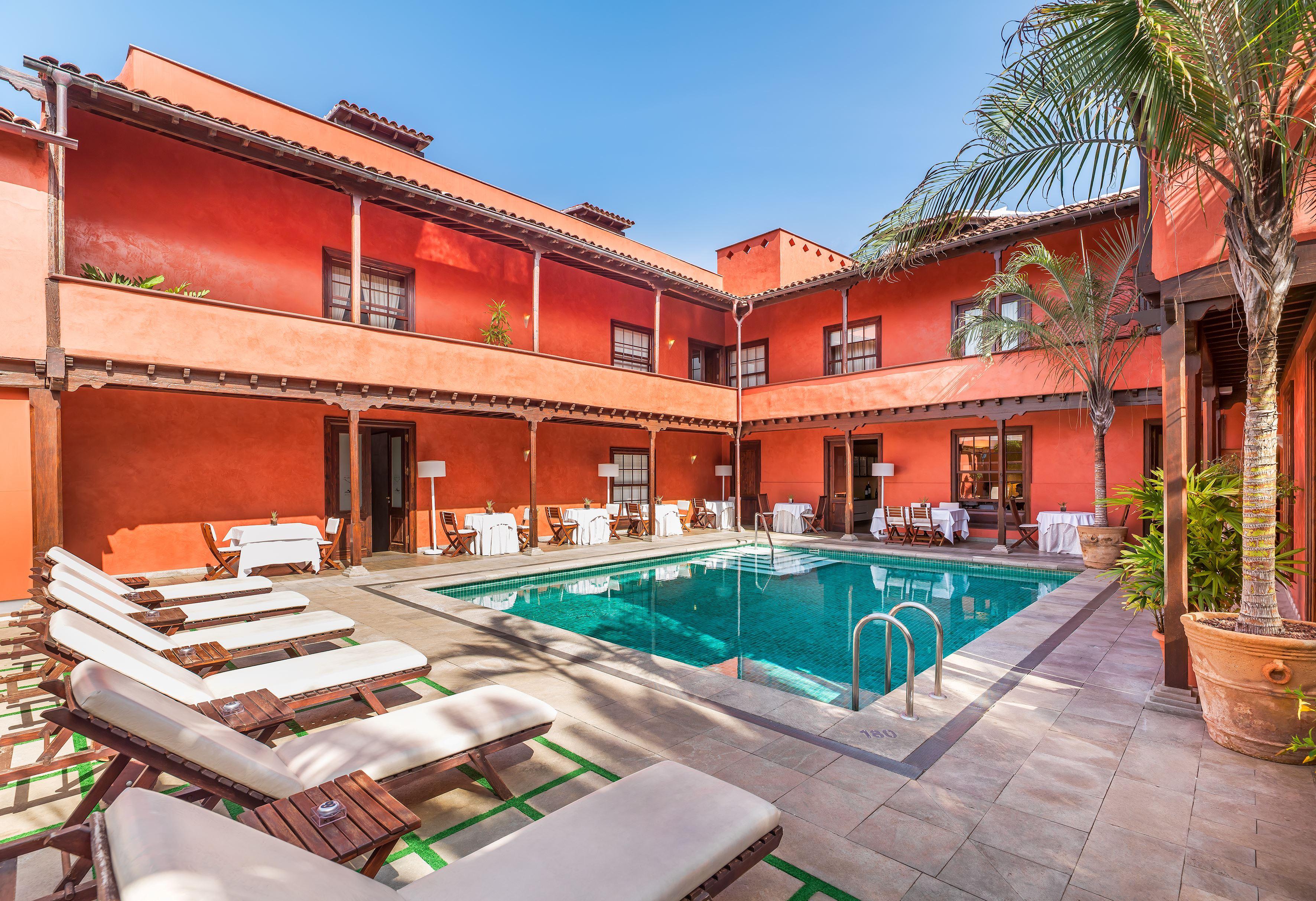 Poolen på hotell San Roque, Garachico Teneriffa