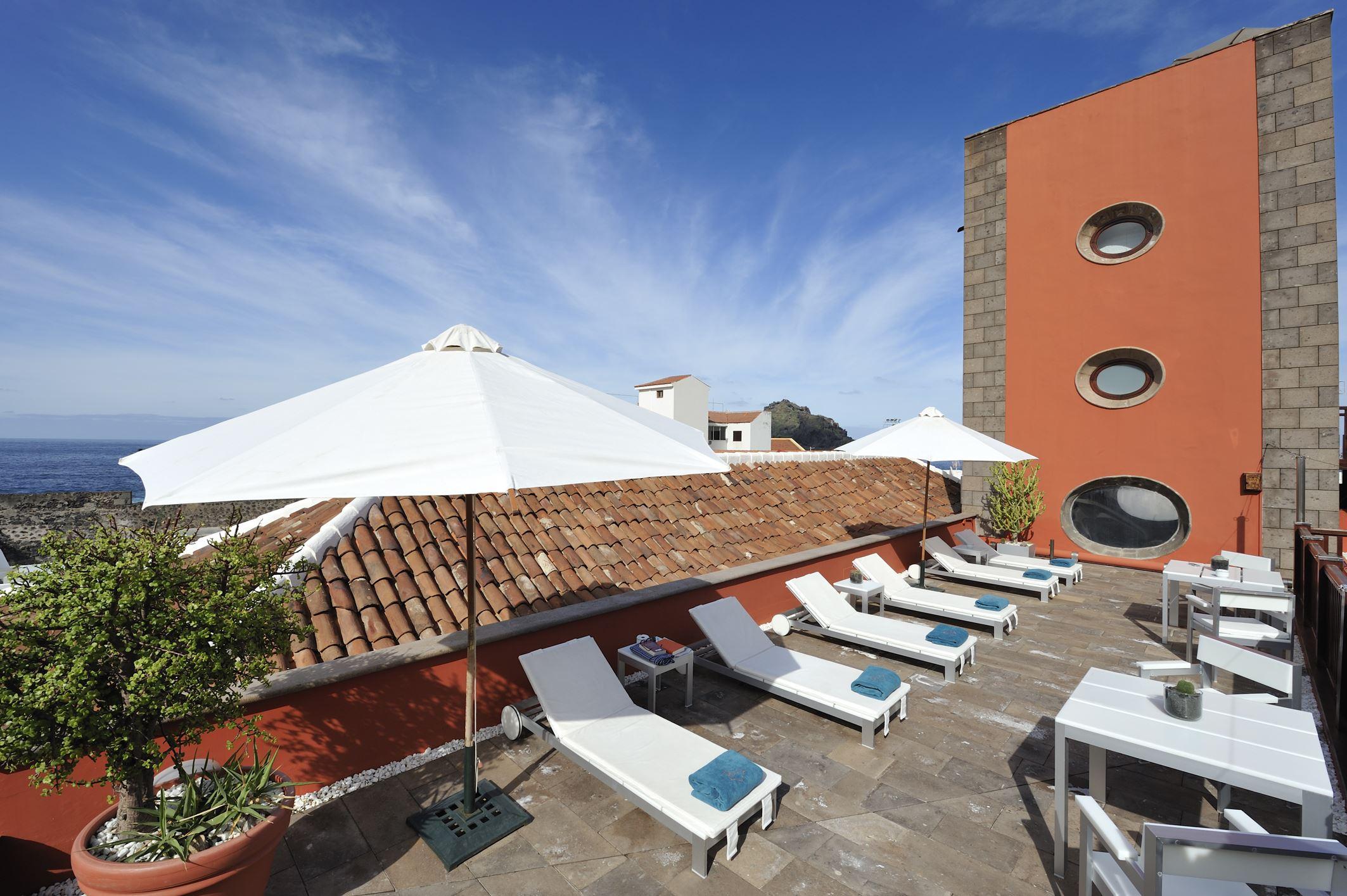 Takterassen på hotell San Roque,Garachico Teneriffa