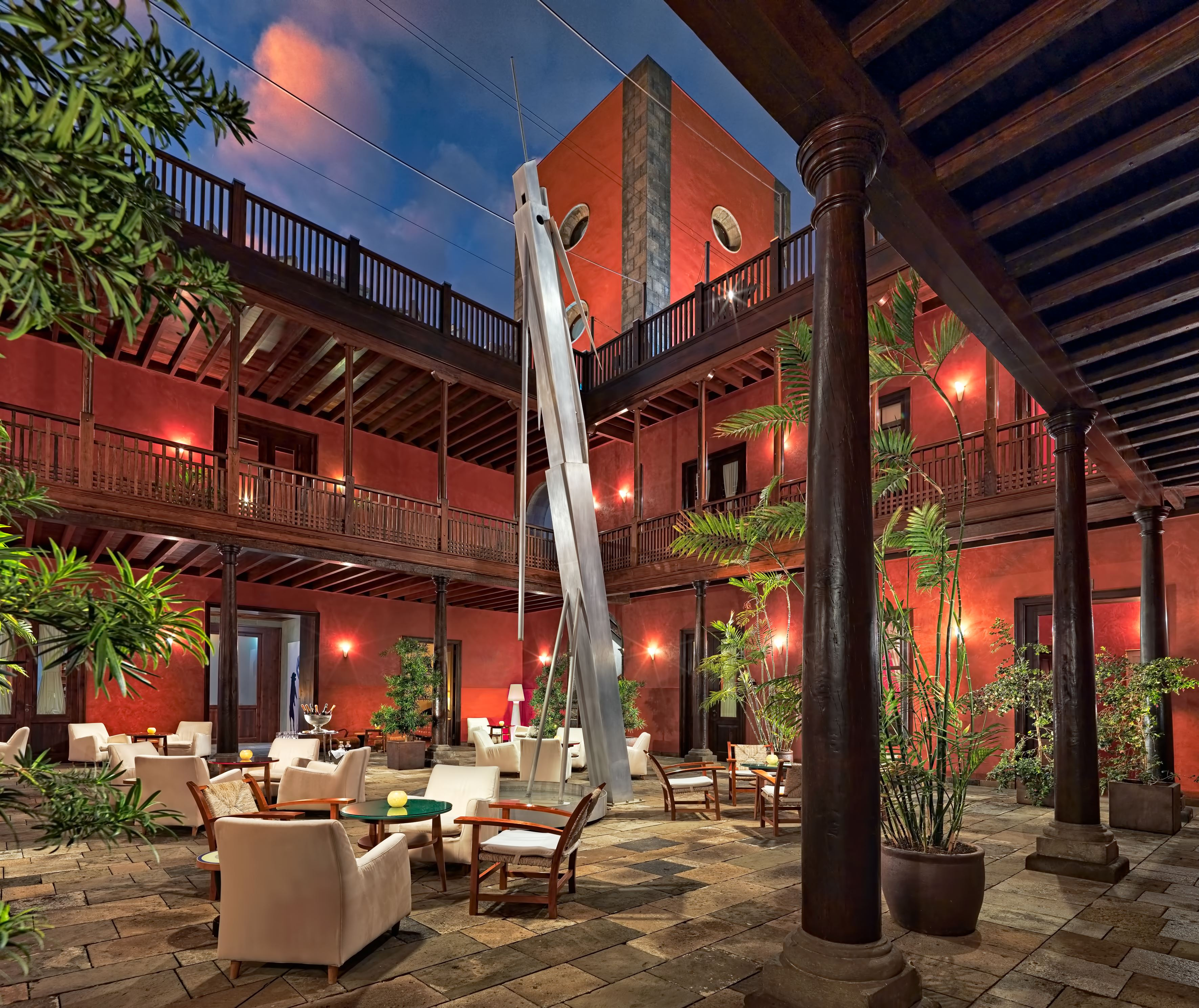 Patio på hotell San Roque, Garachico Teneriffa