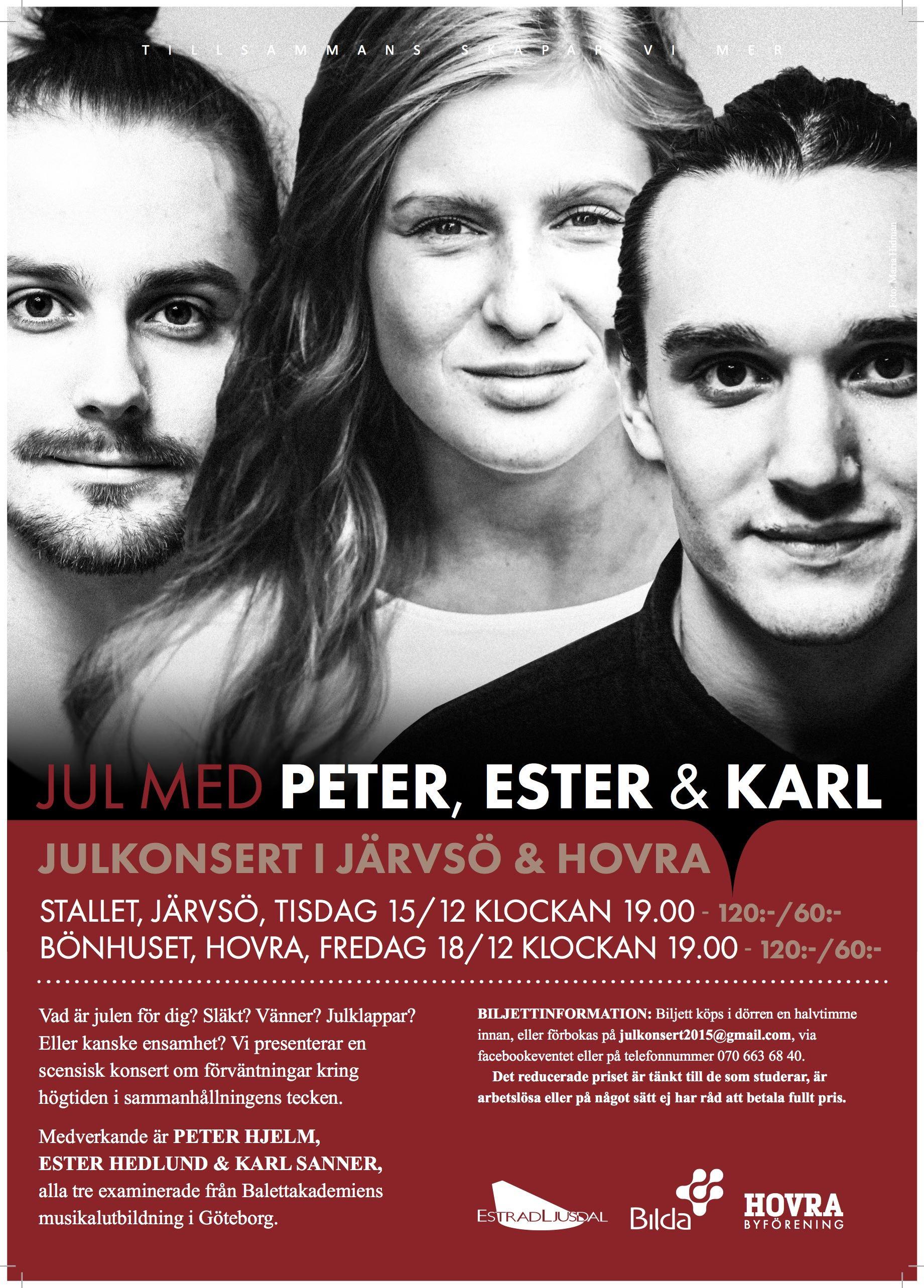 Jul med Peter, Ester & Karl på Stallet, Järvsö