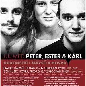 Jul med Peter, Ester & Karl på Bönhuset, Hovra