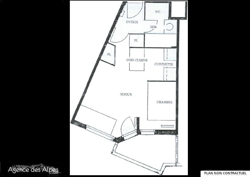 4 Pers Studio 150m from the slope / MEDIAN 515
