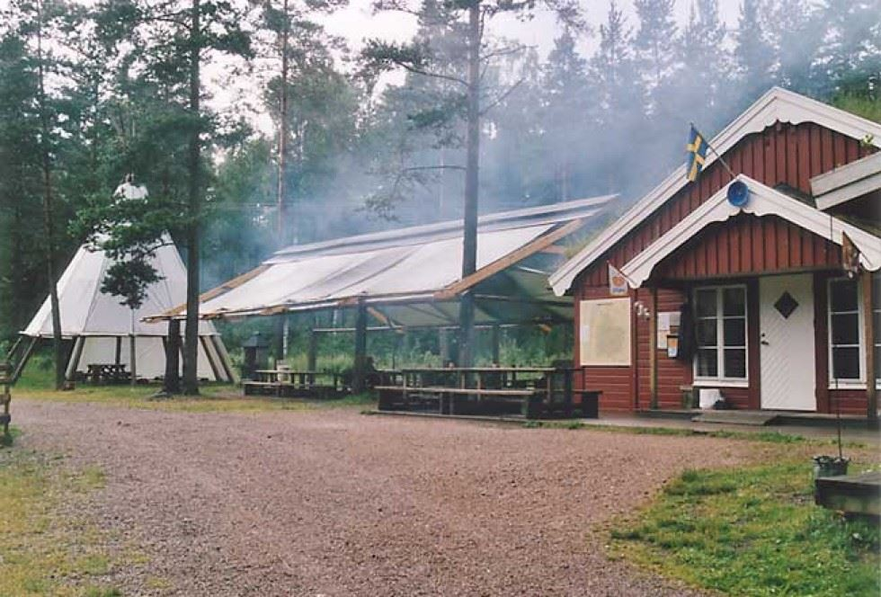 © Guldvaskningen i Ädelfors, Guldvaskningen i Ädelfors (campsite)