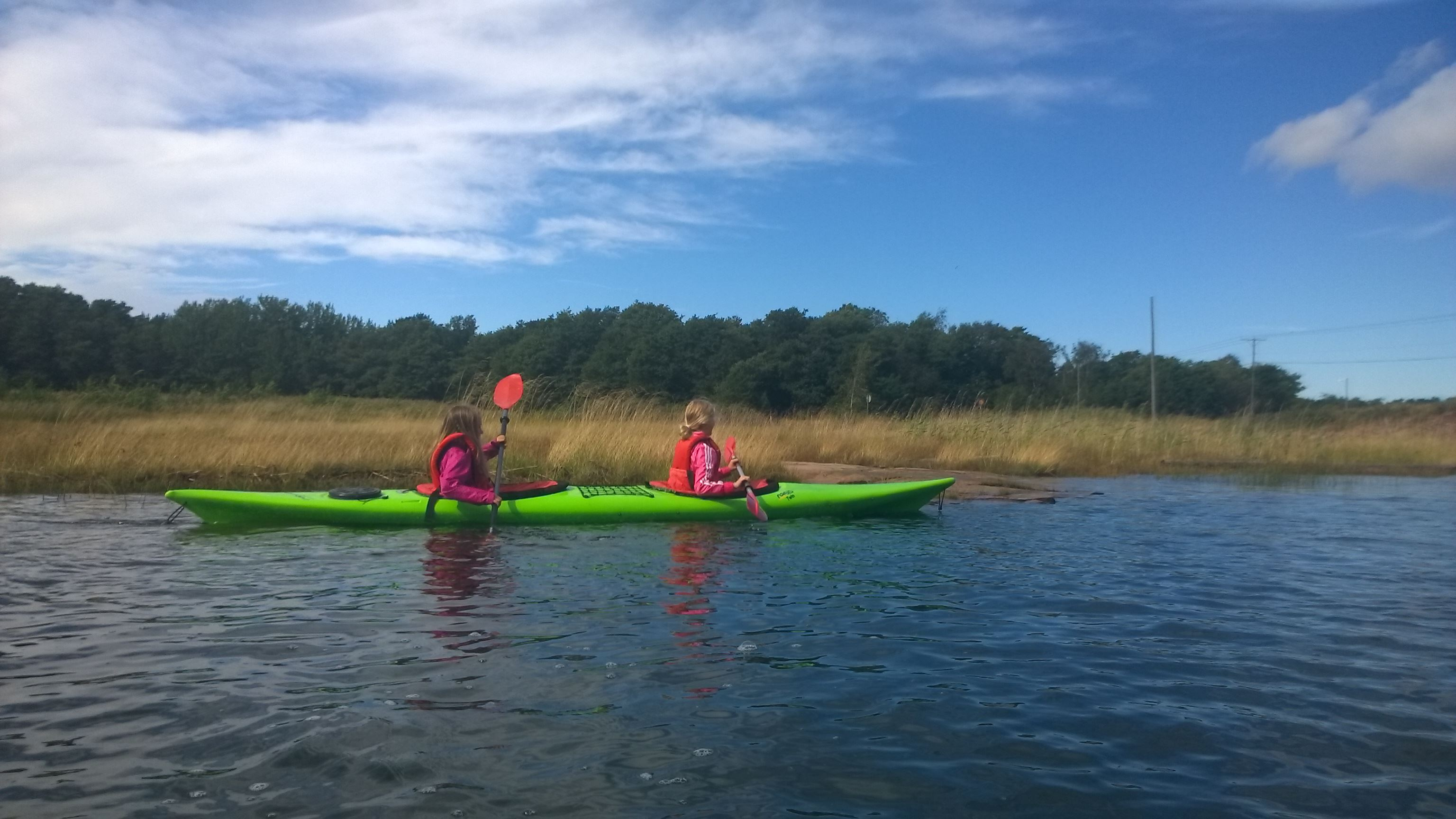 Tandem kayak for beginners, 2 hours