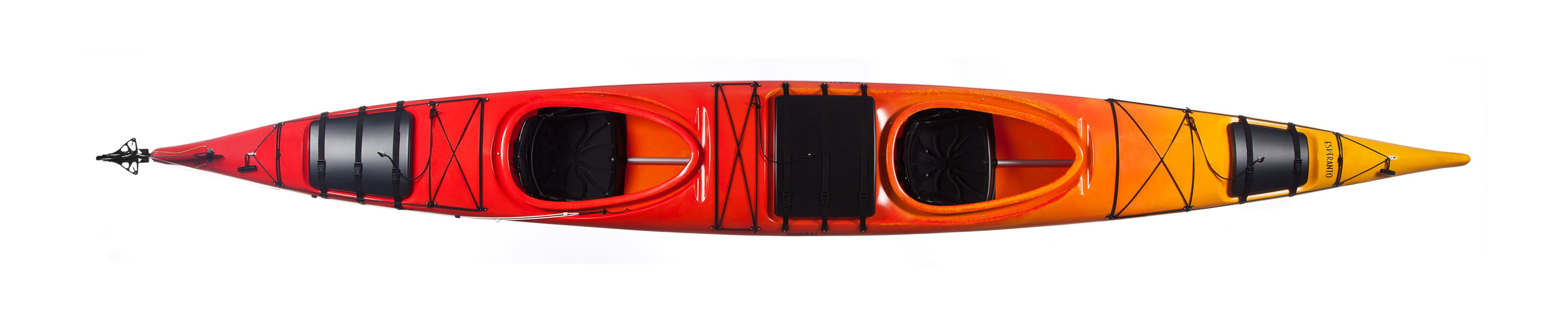 Tandem kayak with bigger storagespace, 2 hours