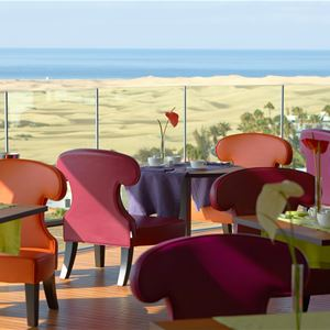 Restaurang med havsutsikt Hotell Bohemia Suites&Spa, Playa del Inlgés Gran Canaria