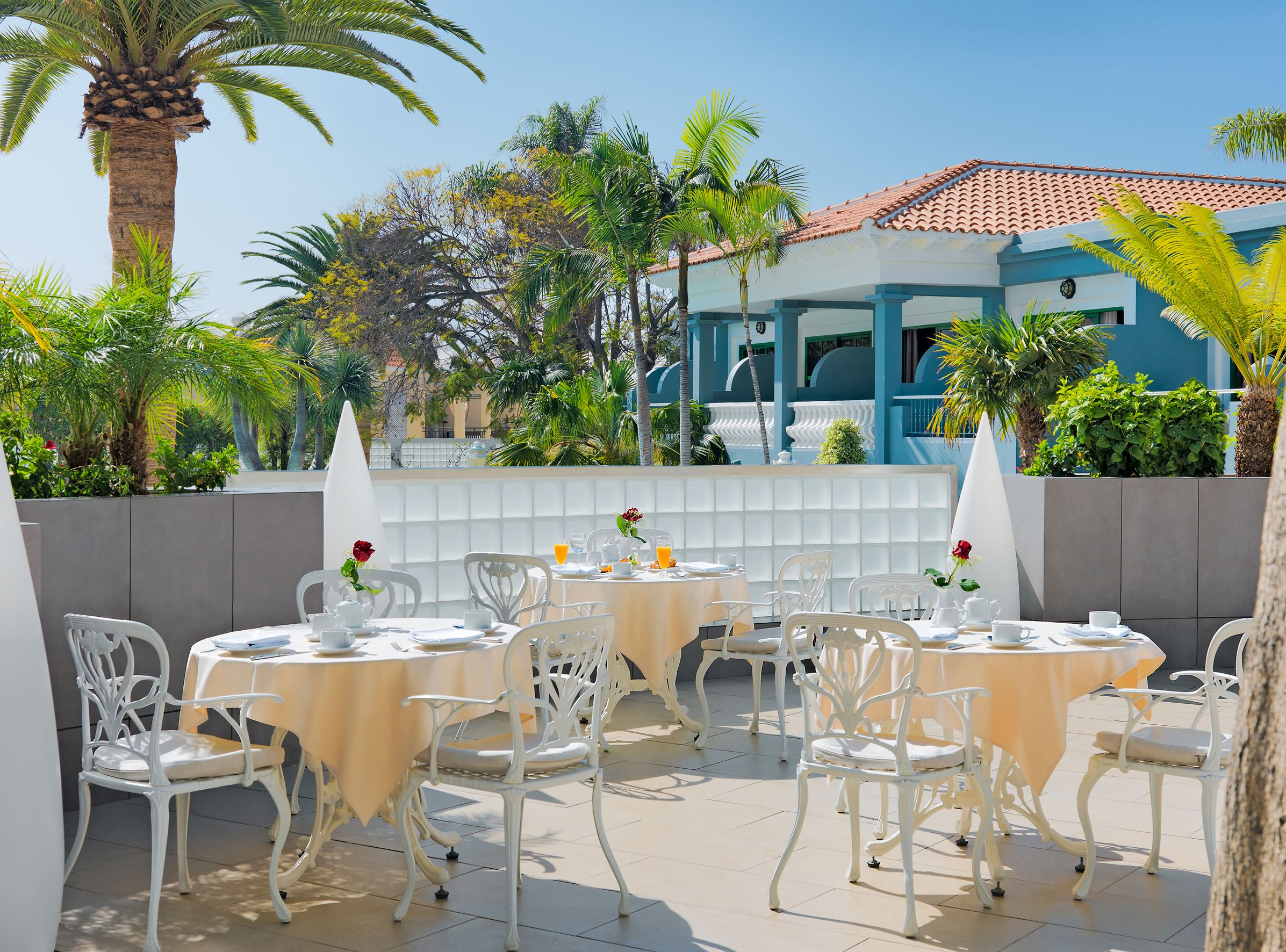 Frukost på Hotell Colon Guanahany, Playa de las Americas Teneriffa