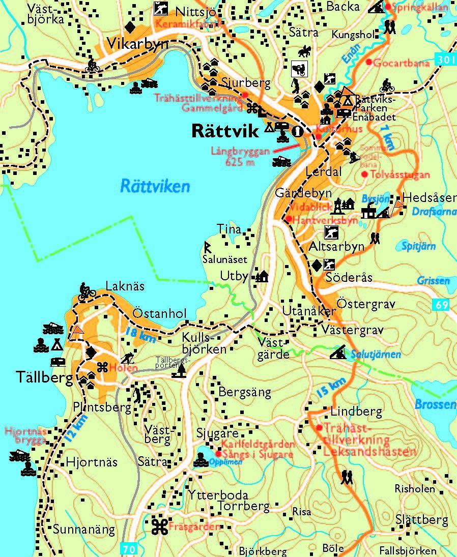 Siljansleden - Cykel och vandringskarta