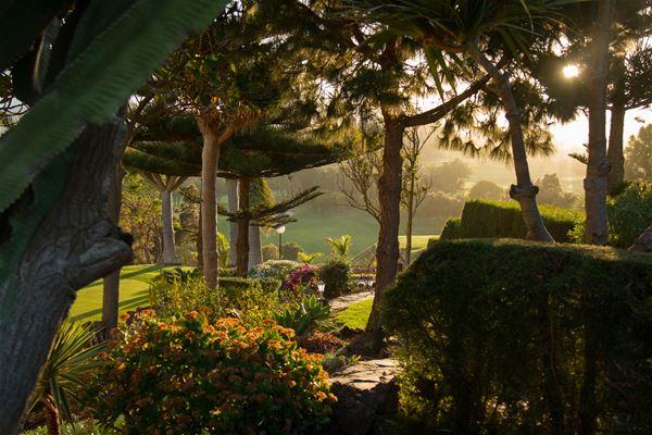 Trädgård på Bandama Golf Hotell, Santa Brigida Gran Canaria