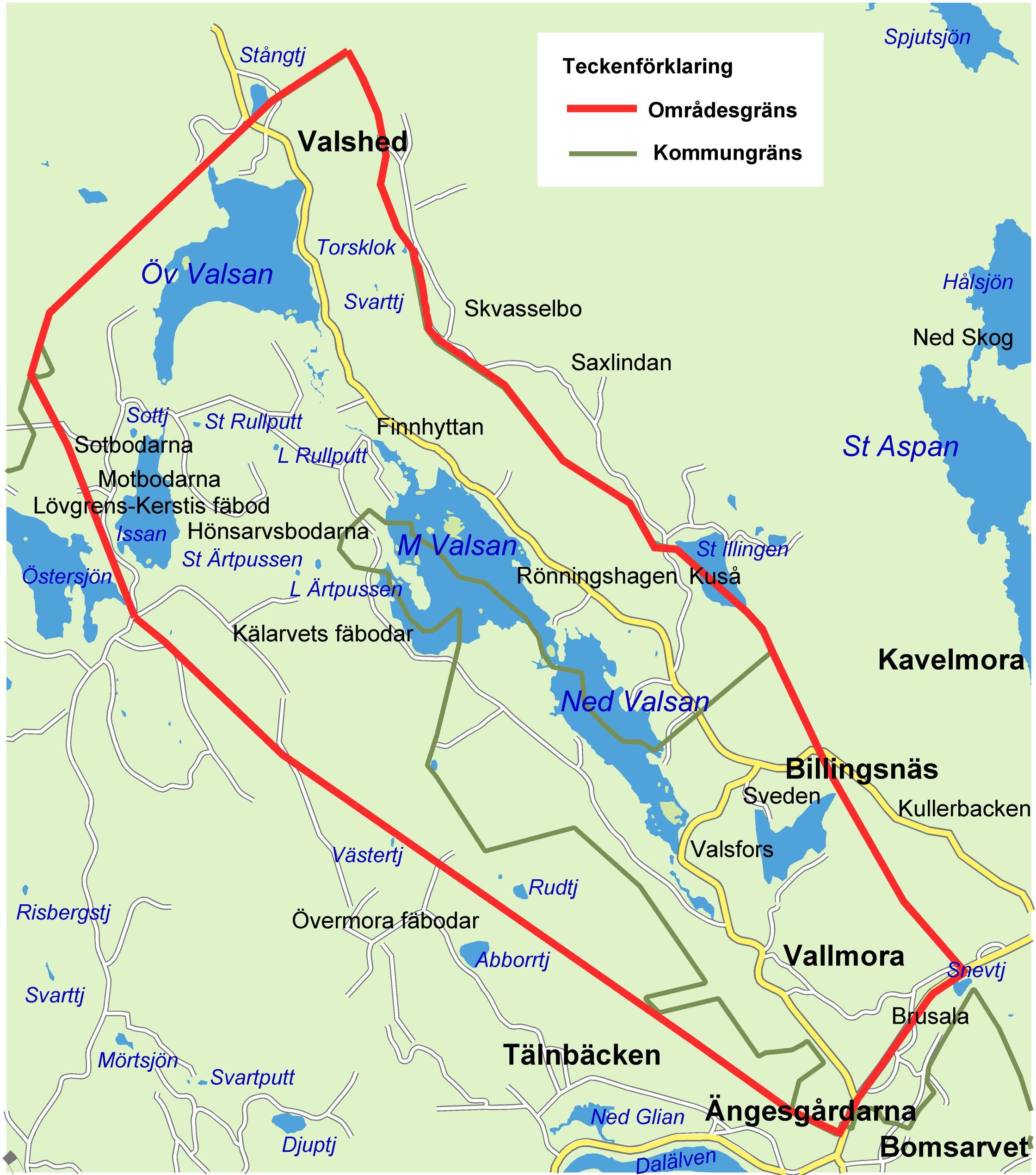 Fiskekort Valsansjöarnas Fiskevårdsområde