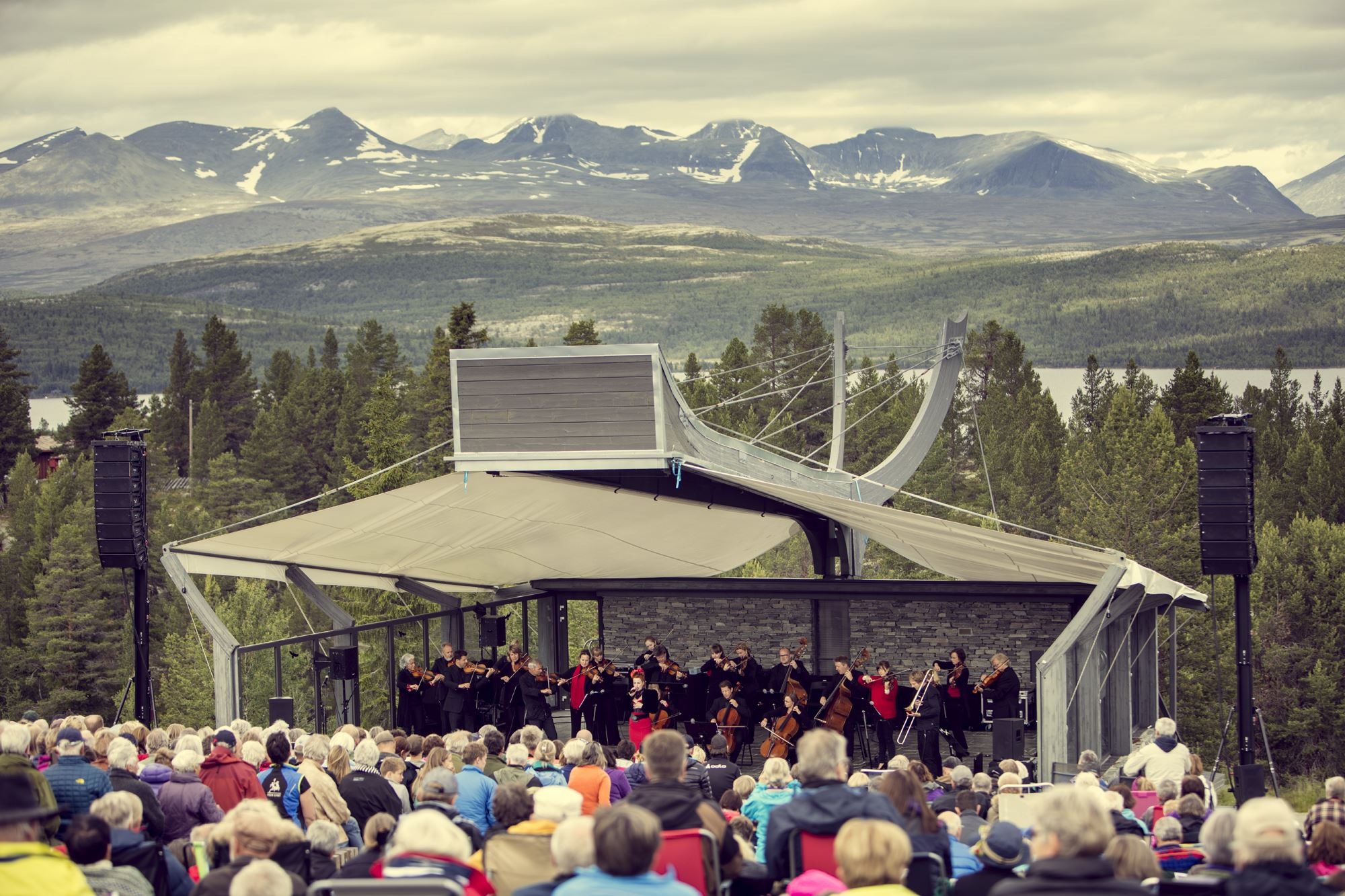 The mountain concert by the Rondane mountains