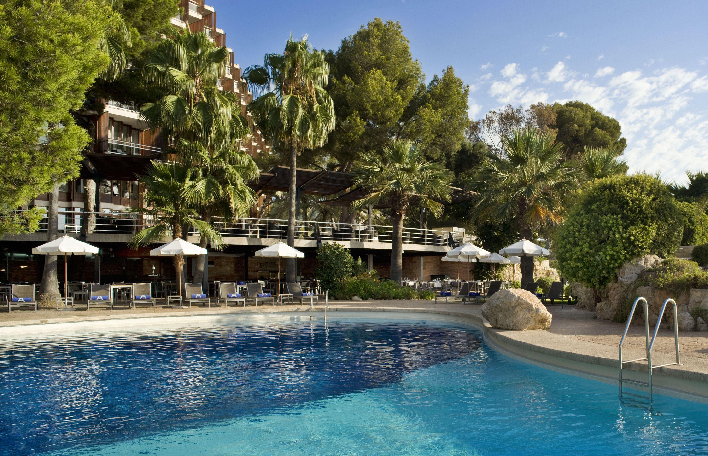 Pool på Hotell Gran Melia de Mar, Illetas Mallorca