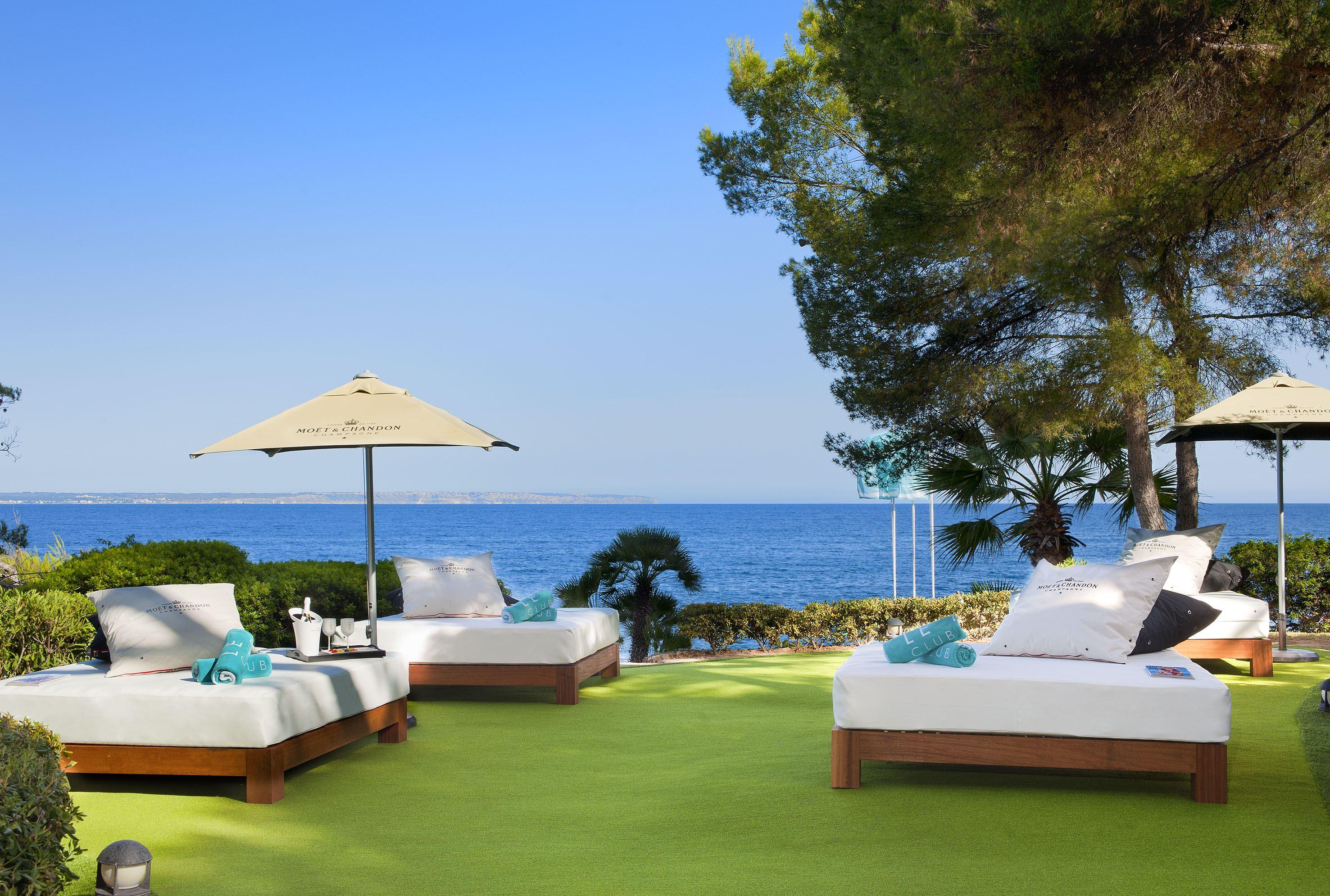 Balisolsängar på Hotell Gran Melia de Mar, Illetas Mallorca