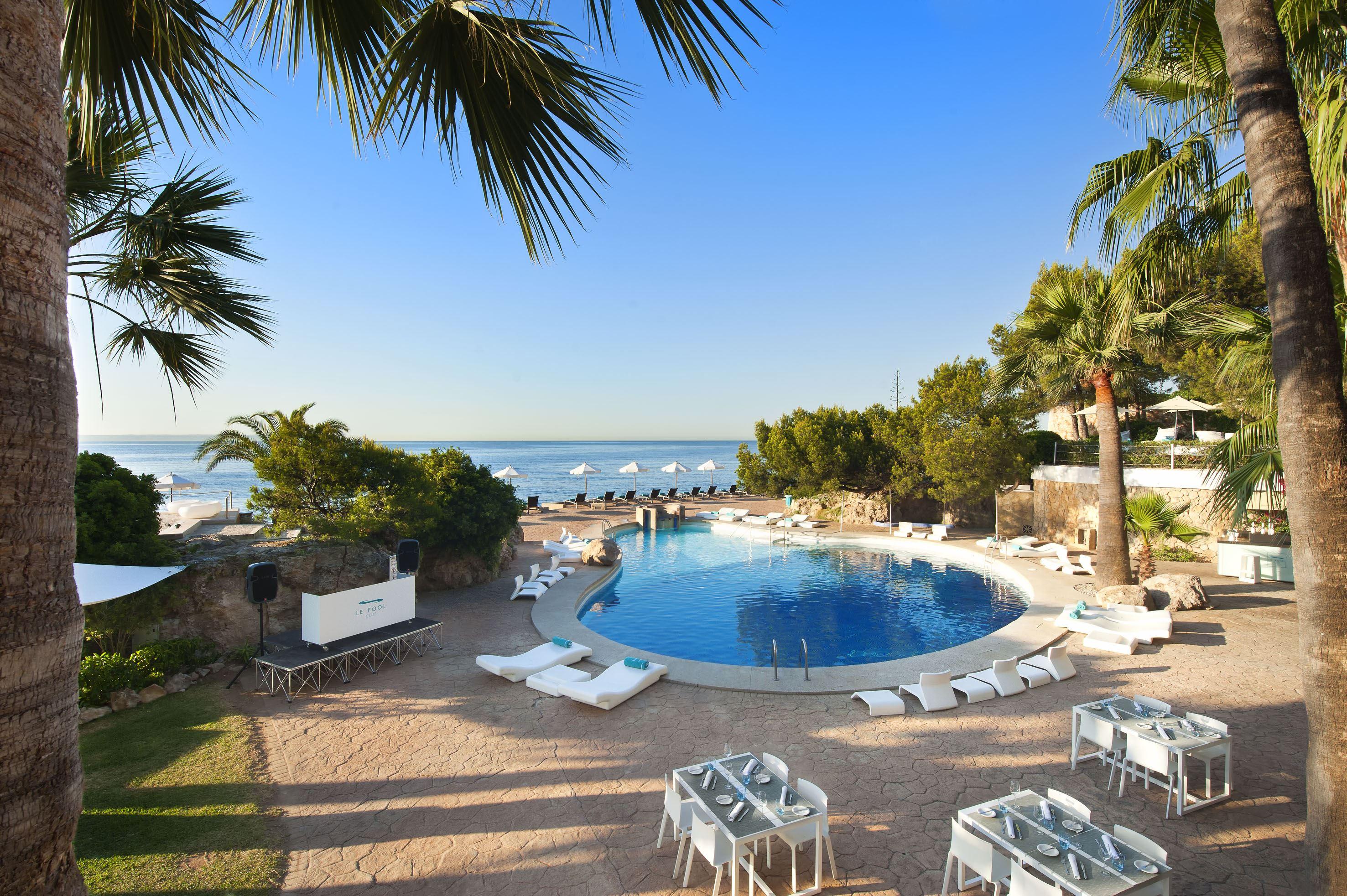 Poolområde på Hotell Gran Melia de Mar, Illetas Mallorca