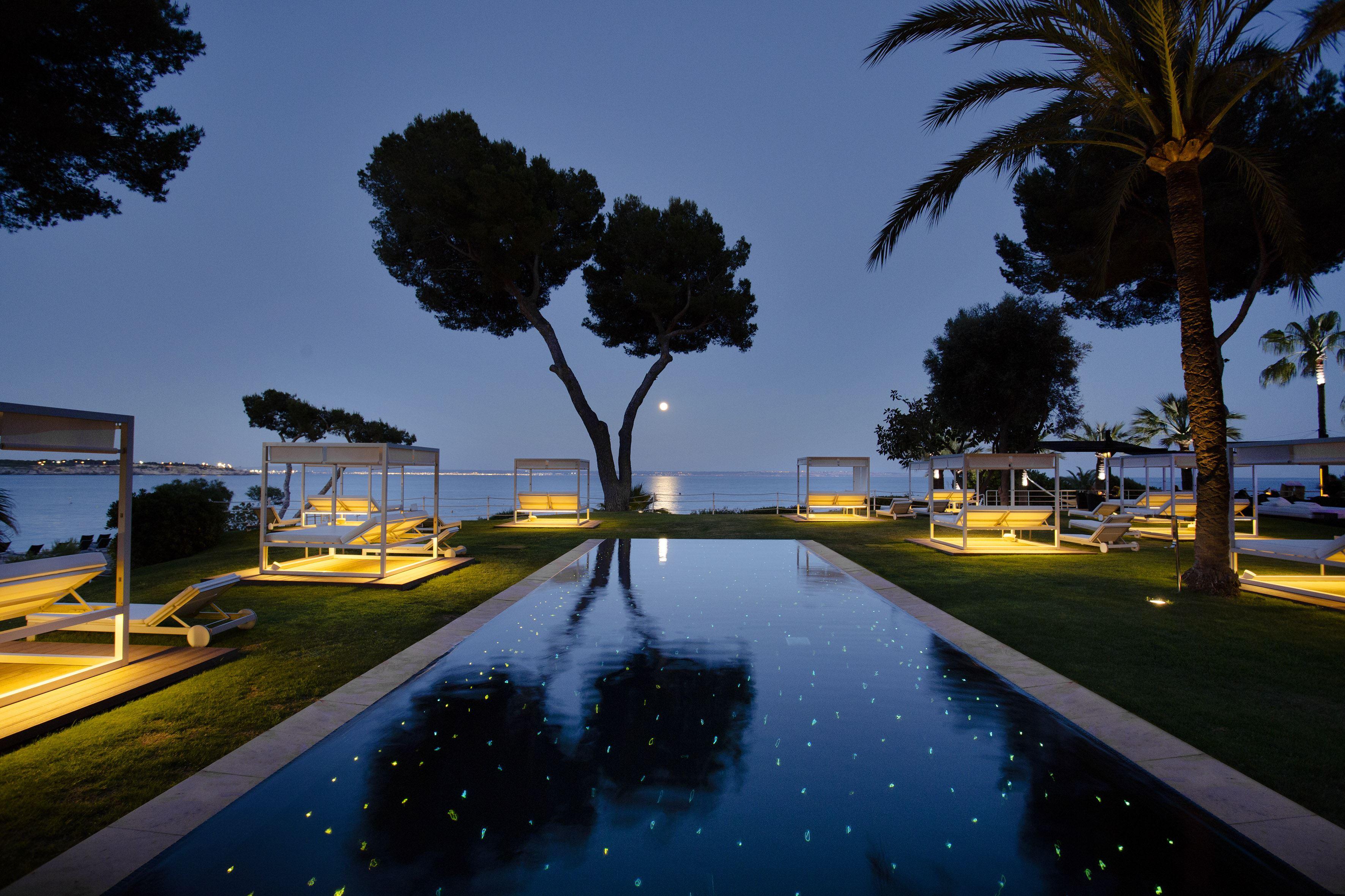 Pool på kvällen Hotell Gran Melia de Mar, Illetas Mallorca