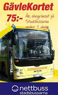 Gävlekortet- Busskort 24h