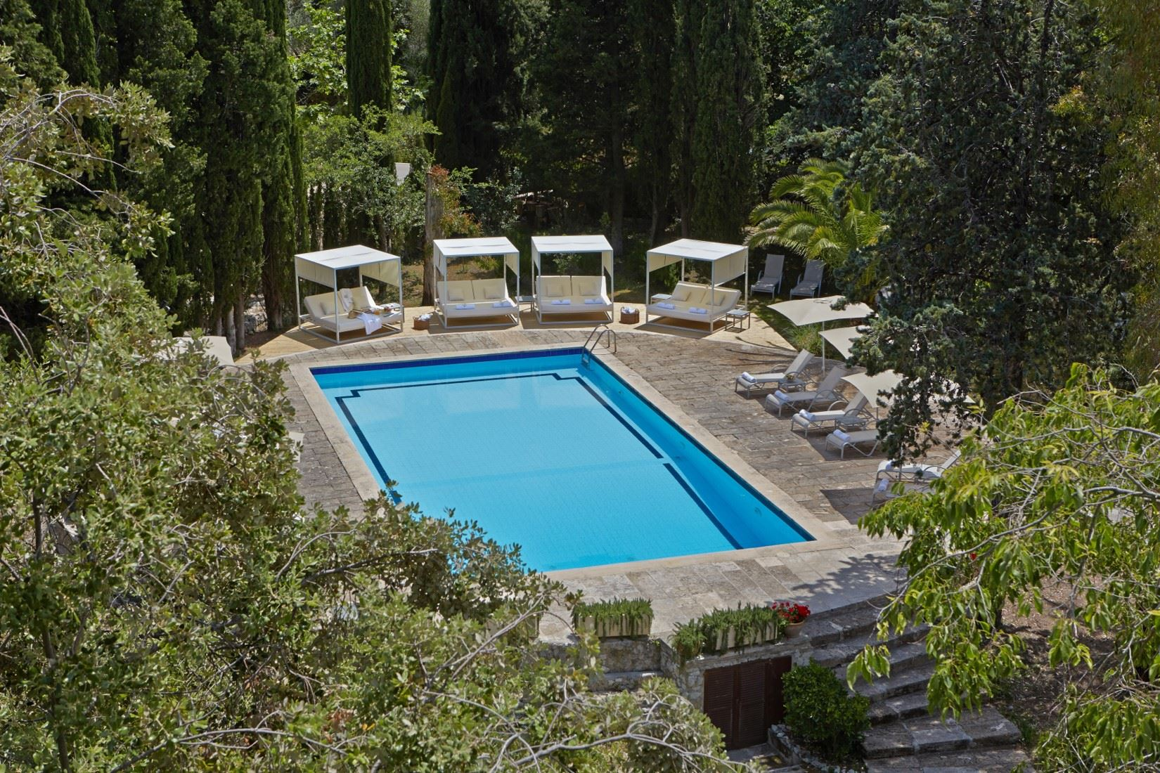 Poolområde på L´Hermitage Hotel & Spa, Orient Mallorca