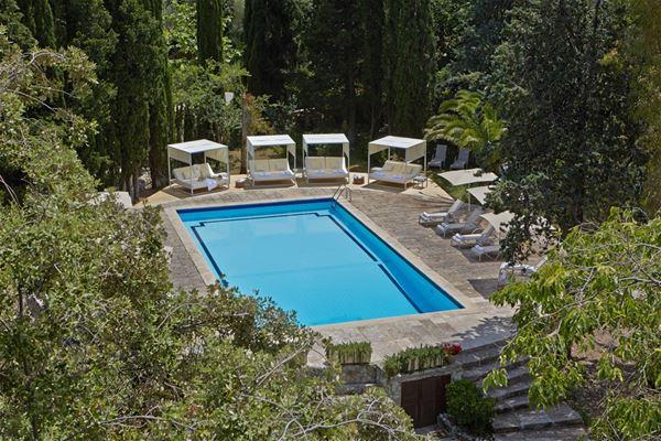 Poolområde på L´Hermitage Hotel & Spa, Orient Mallorca