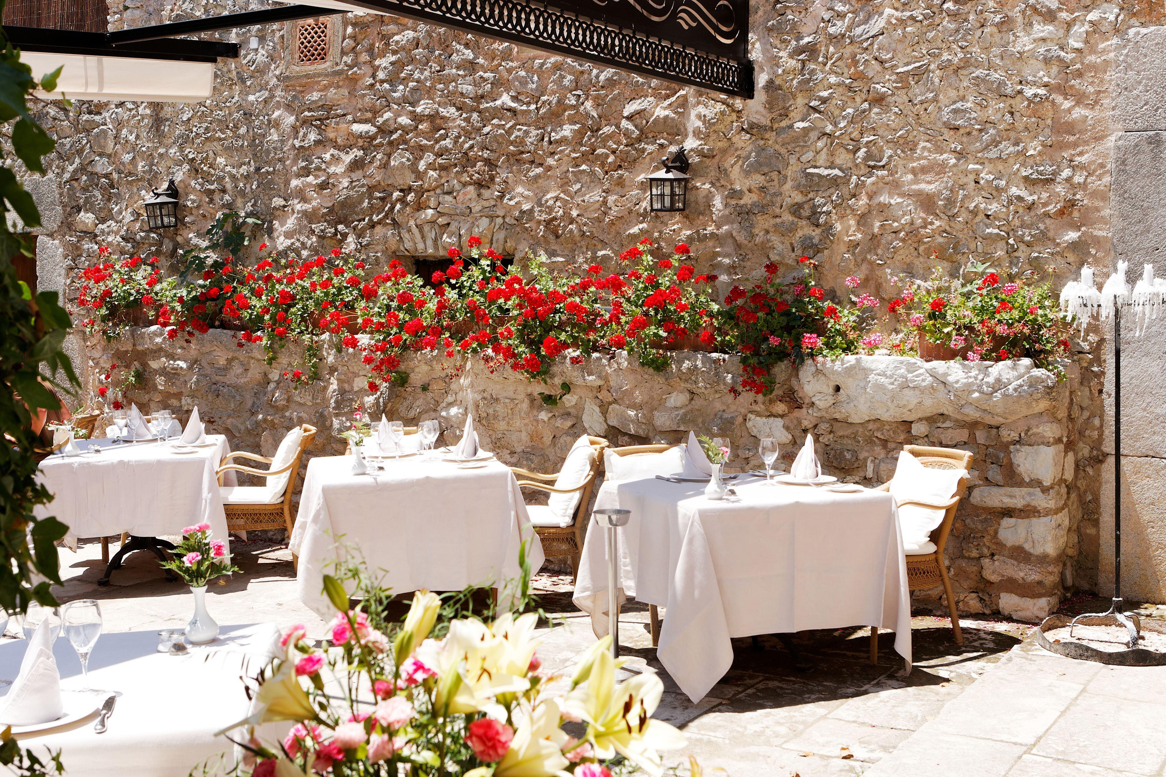 Restaurang på L´Hermitage Hotel & Spa, Orient Mallorca
