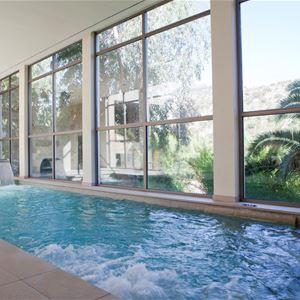 Inomhuspool på L´Hermitage Hotel & Spa, Orient Mallorca