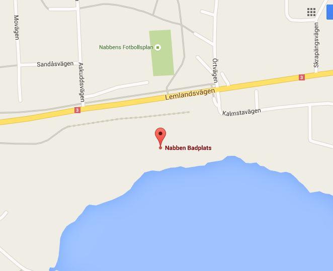 Nabbens badplats, Mariehamn