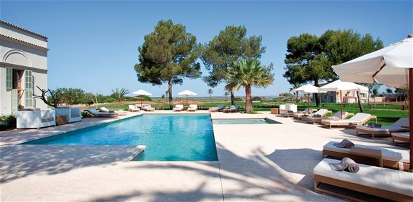 Poolområde på Fontsanta Hotel Thermal Spa & Wellness, Colonia de Sant Jordi Mallorca