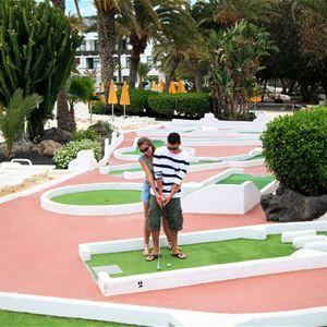 Minigolf på Hotell H10 Lanzarote Princess, Playa Blanca Lanzarote