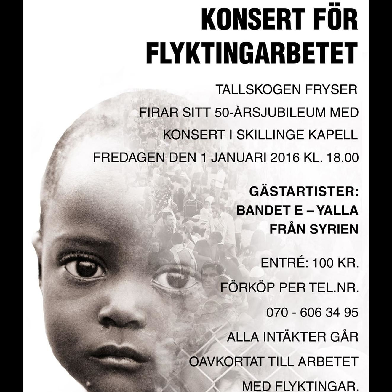 Konsert för flyktingarbetet