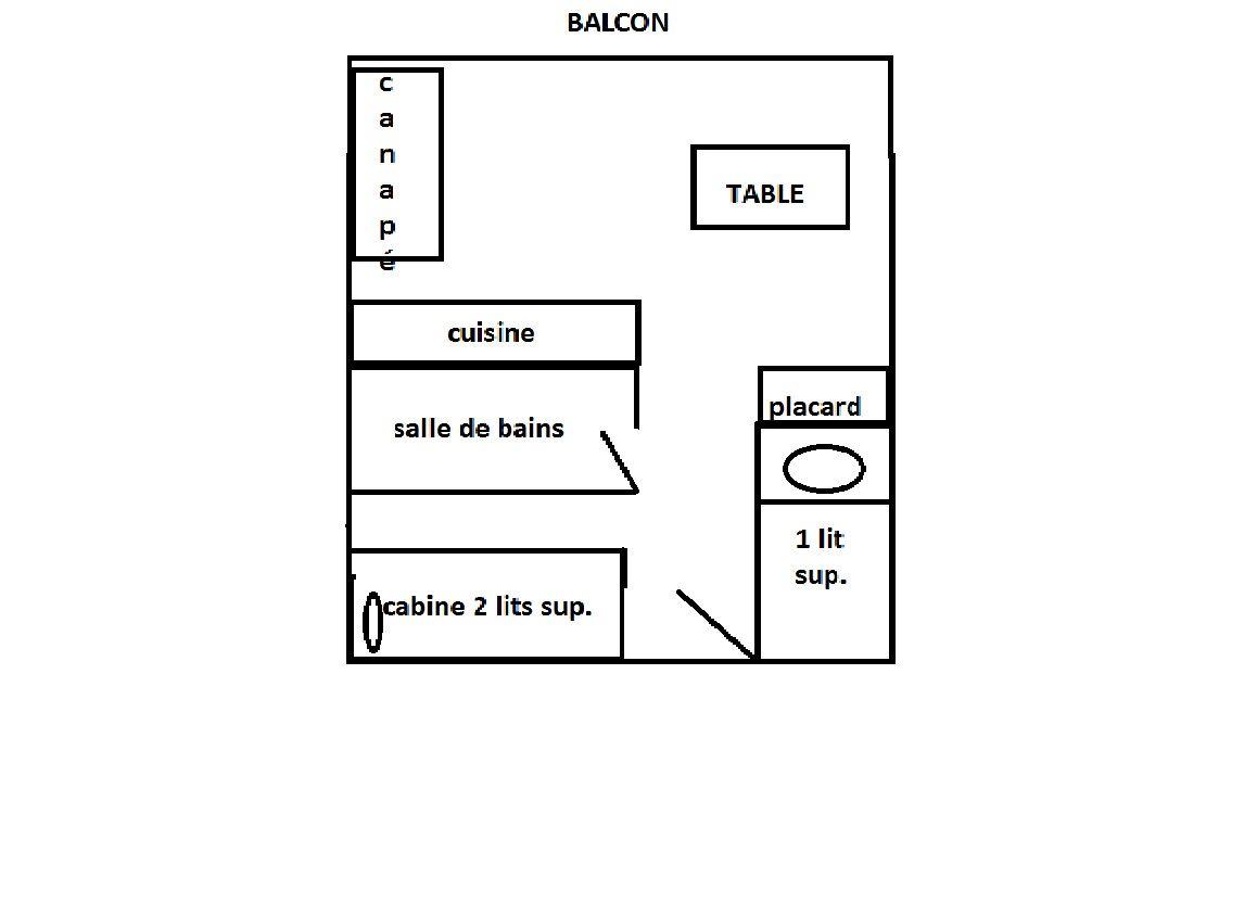 HERMINE 3 / 2 rooms 5 people