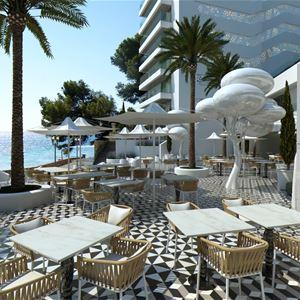 Restaurang med havsutsikt på Iberostar Grand Hotel Portals Nous, Mallorca