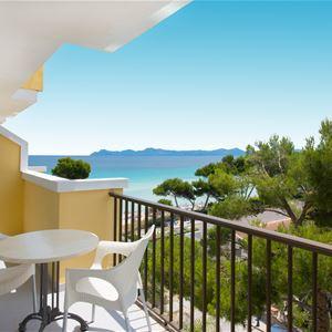 Havsutsikt från balkong Iberostar Alcudia Park, Alcudia Mallorca